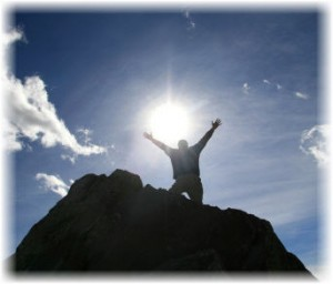 The-Climber-Rejoices-at-the-Top-of-the-Mountain