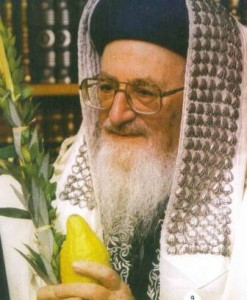 mordechai eliyahu with etrog